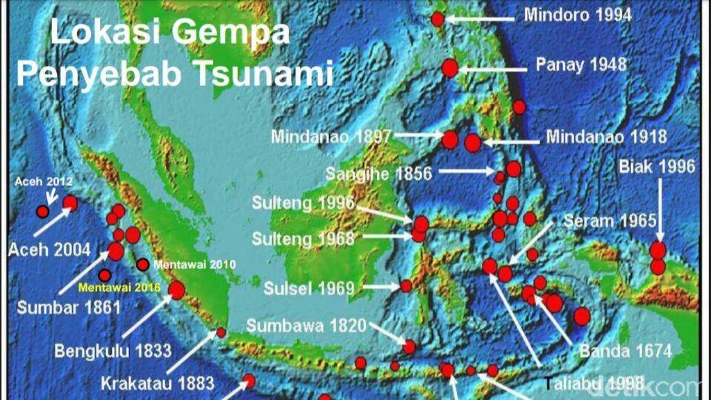 BNPB: Indonesia Sudah Alami Kejadian Tsunami 175 Kali Sejak Tahun 1629