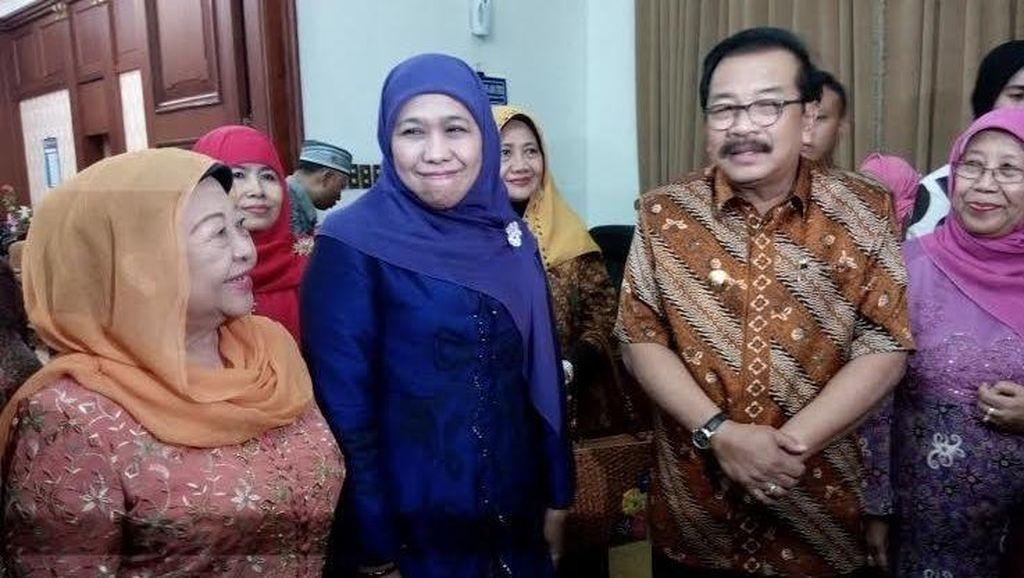 Khofifah Temui Gubernur Jatim Minta Restu Harlah ke-70 Muslimat NU di Malang