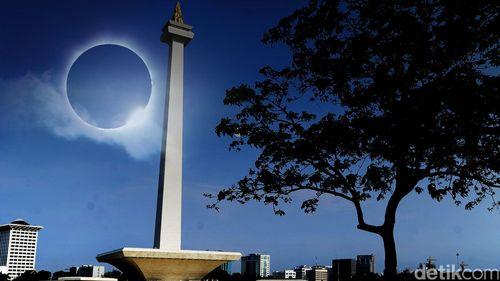 Menikmati Gerhana Matahari di Jakarta