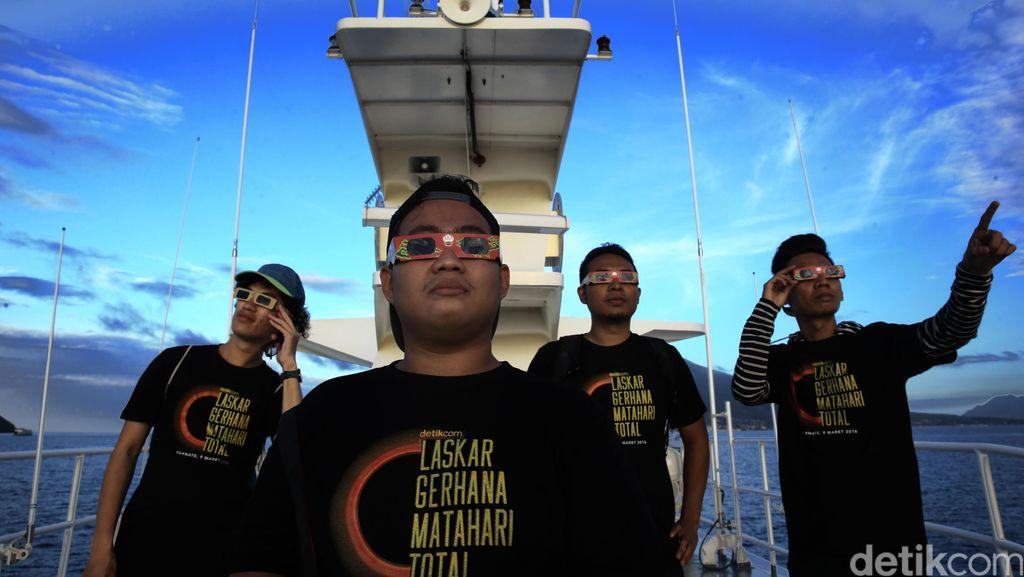 Laskar Gerhana detikcom Nikmati GMT dari Atas Kapal Bakamla