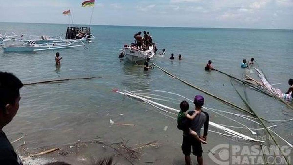 Perahu Pustaka Terbalik di Majene, Seluruh Penumpang Termasuk Maman Selamat