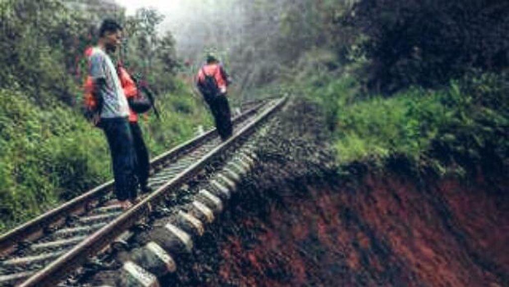 Tebing Tergerus Sungai Cisadane, Begini Penampakan Jalur Rel Sukabumi-Bogor