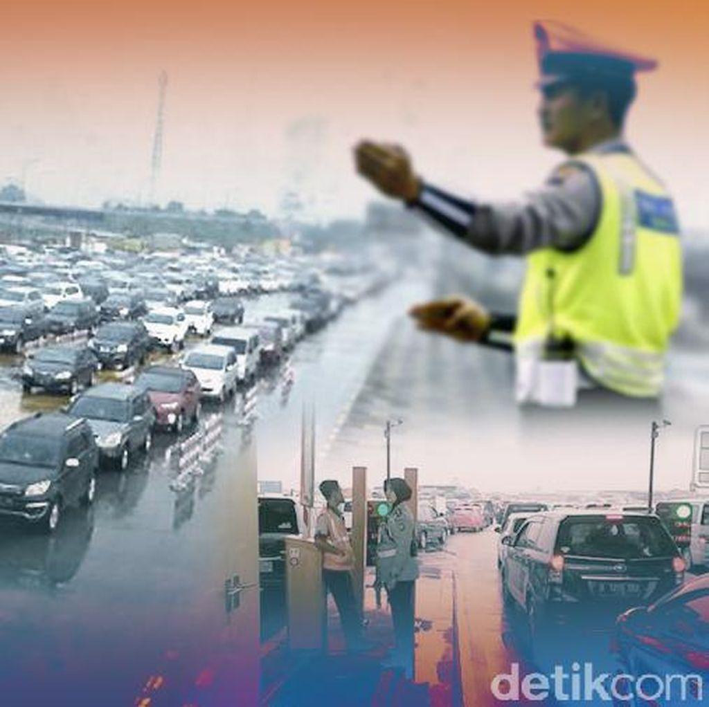 Ada Perbaikan Jalan, Arus Lalin di Sejumlah Tol Menuju ke Jakarta Padat