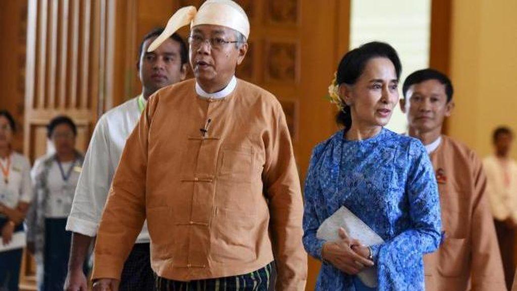Presiden Baru Myanmar Dilantik, Para Anggota Partai Suu Kyi Menangis