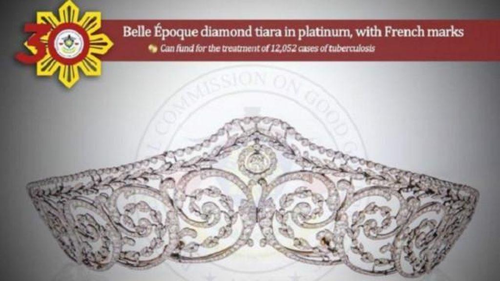 Filipina Pamerkan Koleksi Perhiasan Marcos untuk Mencegah Korupsi