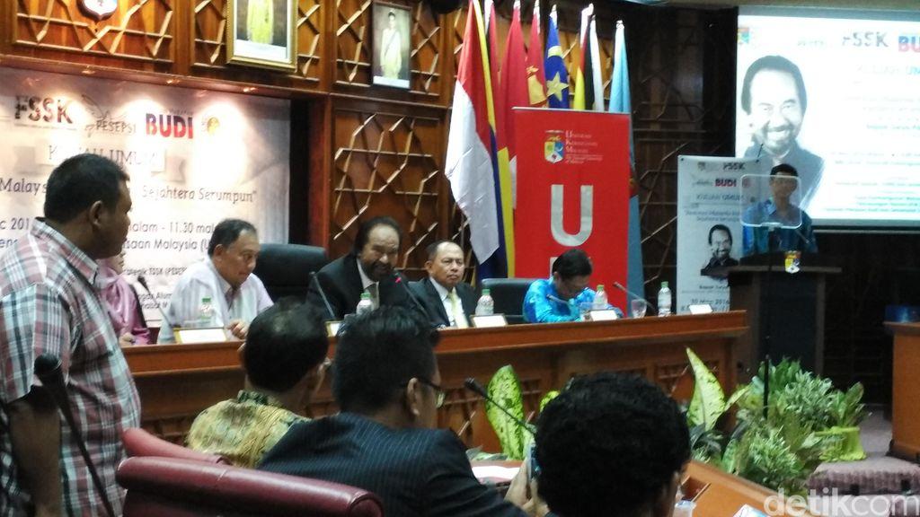 Beri Kuliah Umum, Surya Paloh: Indonesia-Malaysia Tulang Punggung ASEAN