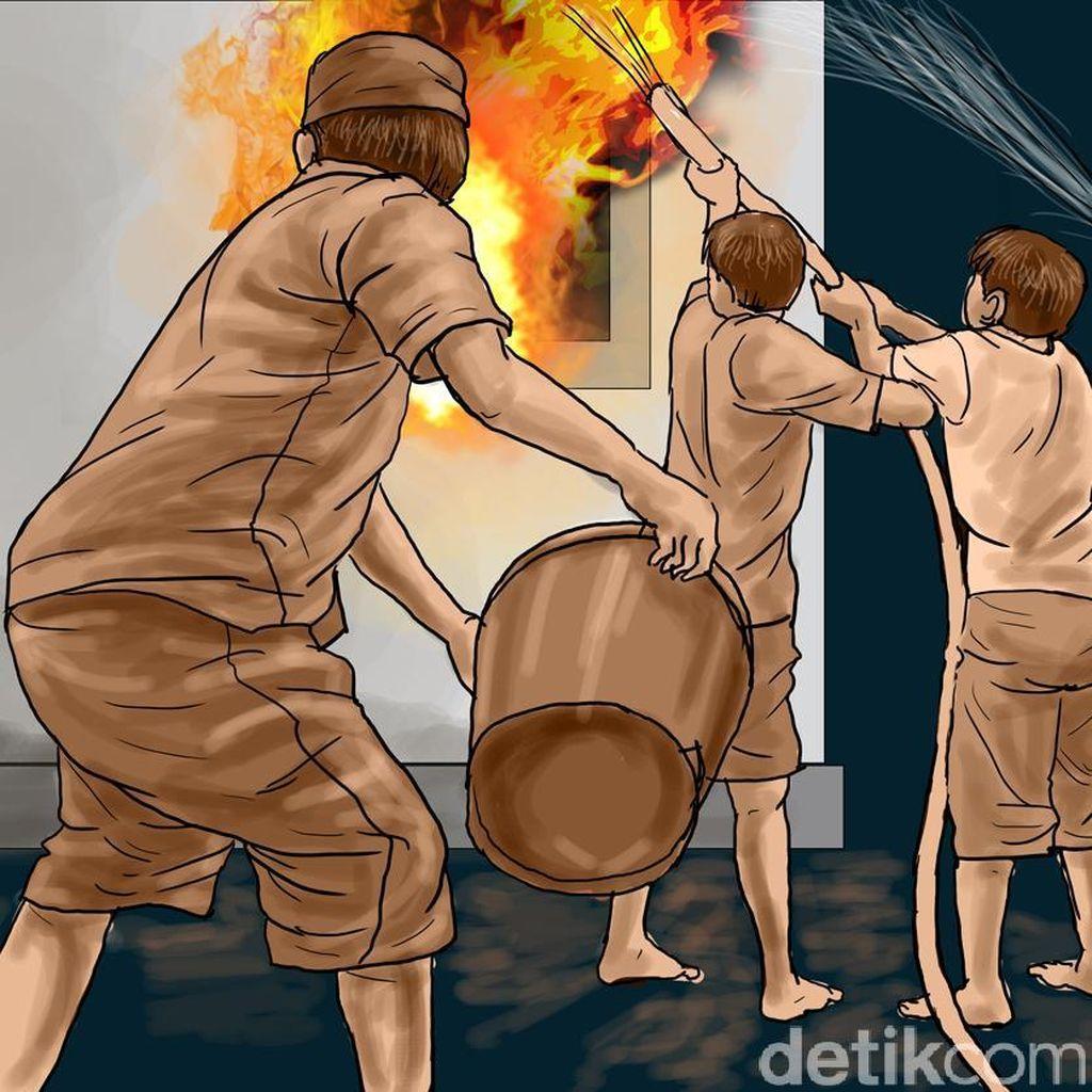 Gudang Mebel di Jakarta Barat Terbakar