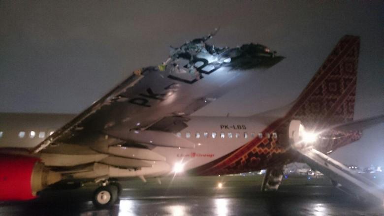Pesawat Batik Air yang Tabrakan Tujuan Makassar