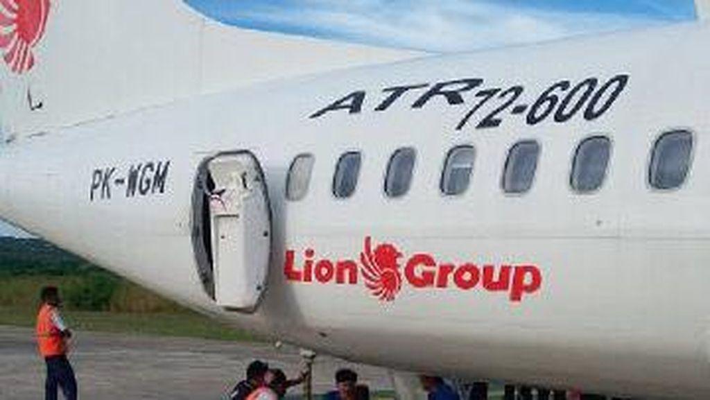 Wings Air Tabrak Rambu di Bandara Kupang, Bodi Pesawat Rusak