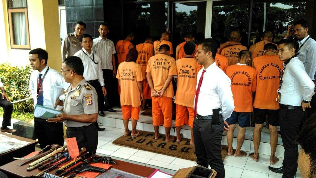 Polisi Tangkap Kawanan Perampok Bersenjata Api di Sukabumi