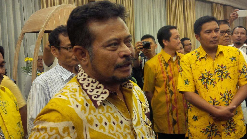 Syahrul Yasin Limpo Ogah Iuran Munaslub Golkar Rp 1 M, Tak Masalah Dicoret