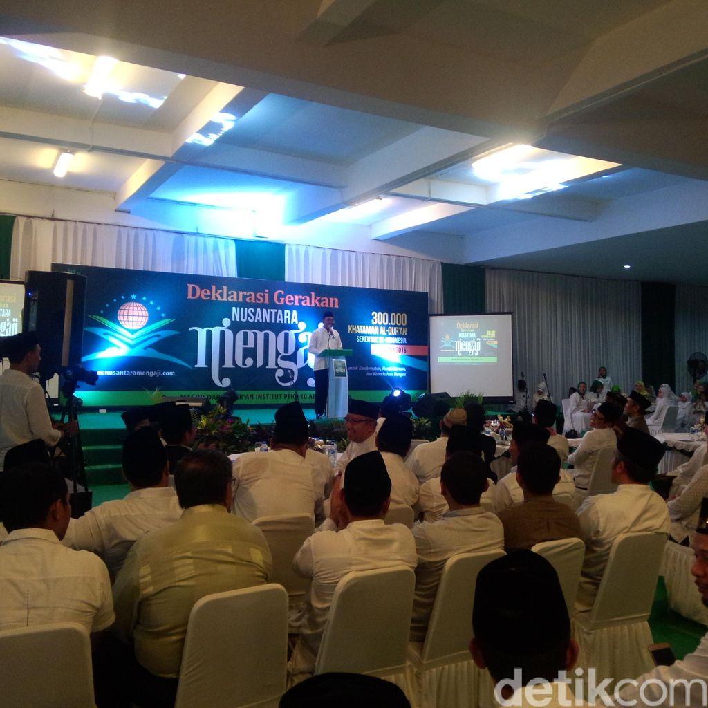 Enam Menteri Bakal Meriahkan Gerakan Nusantara Mengaji