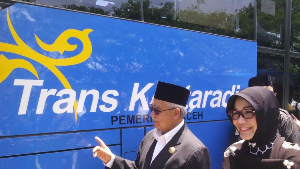 Banda Aceh Kini Punya Bus Mirip TransJ, Tiket Digratiskan selama Setahun