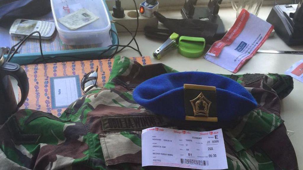 Berseragam TNI dan Bersandal Jepit, Wanita asal Jakarta Diamankan di Kualanamu
