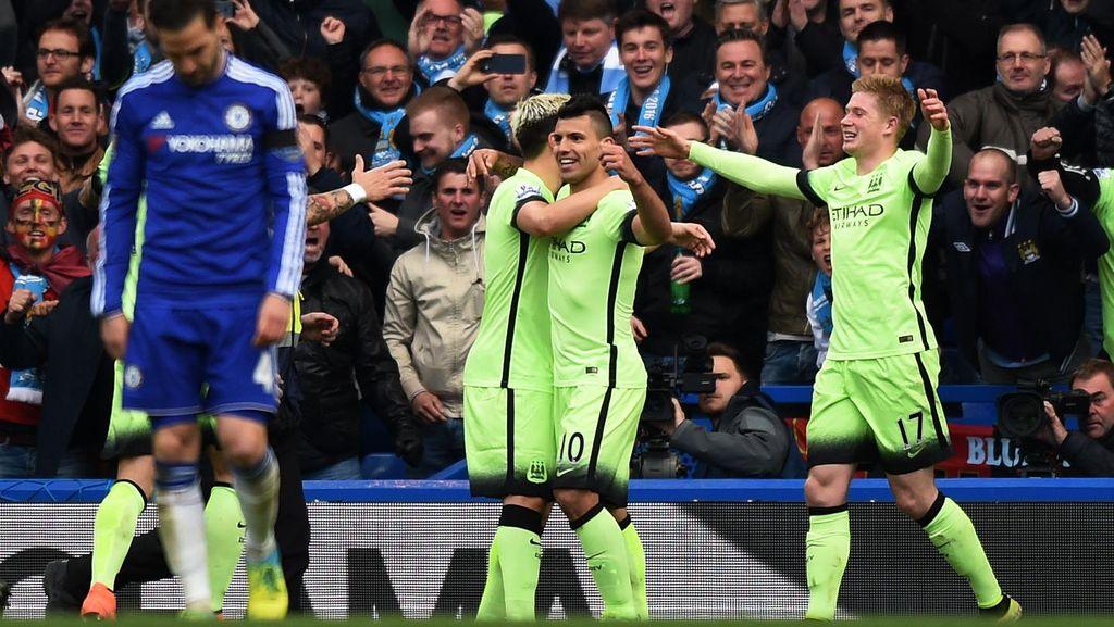 Aguero Hat-trick, City Tundukkan Chelsea