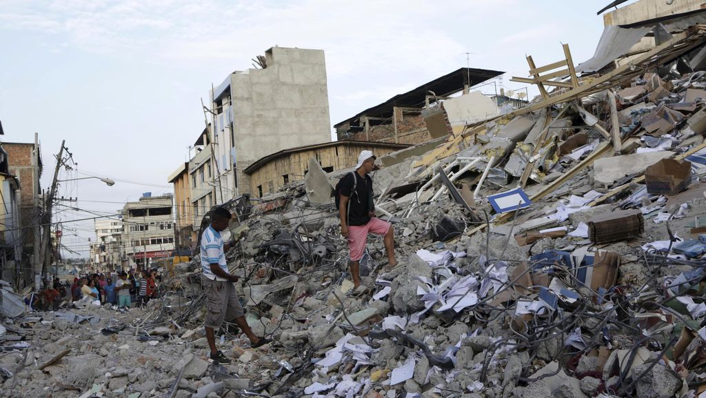 Korban Tewas Gempa Ekuador Terus Bertambah, Kini Jadi 646 Orang