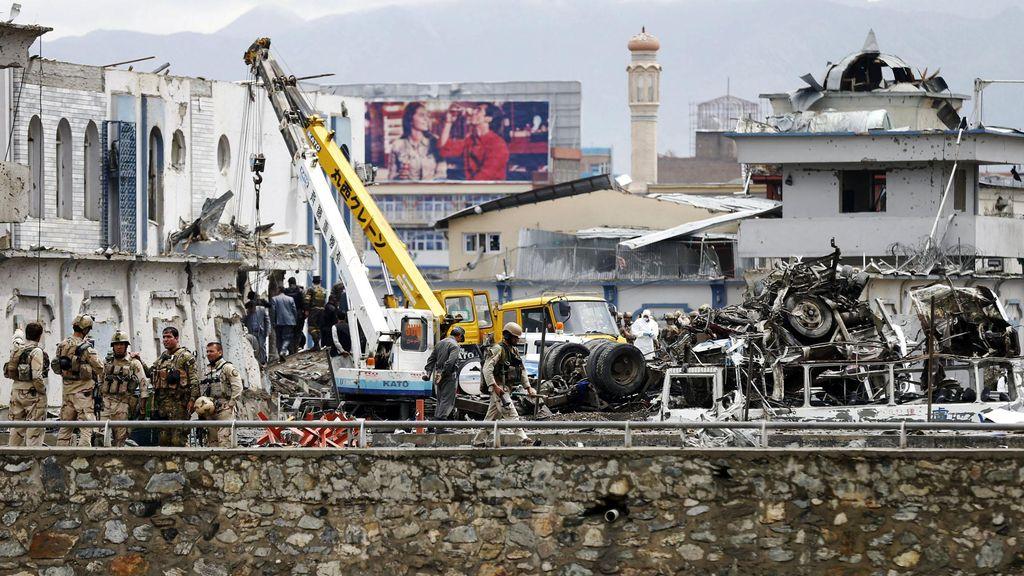 Korban Jiwa Bom Bunuh Diri Dekat Kedubes AS di Afghanistan Menjadi 64 Orang