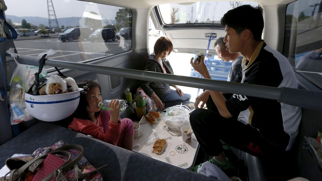Ratusan Gempa Susulan di Jepang Bikin Pengungsi Makin Menderita