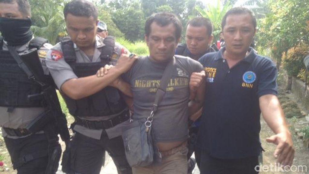 Pecatan TNI ini Tertangkap Edarkan Sabu di Kampung Narkoba Deli Serdang