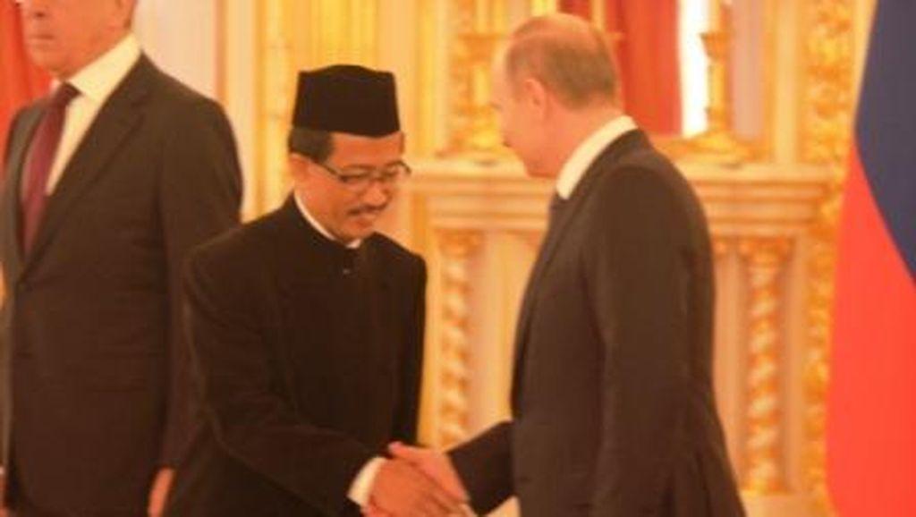 Dubes RI untuk Rusia Wahid Supriyadi Serahkan Surat Kepercayaan ke Putin