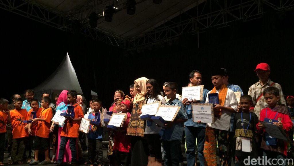 Lomba Anak-anak Pecinta Alat Musik Daerah Berakhir, Ini Pemenangnya