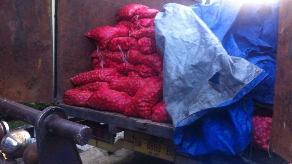 Peredaran 14 Ton Bawang Merah Selundupan Berhasil Digagalkan Polda Sumut