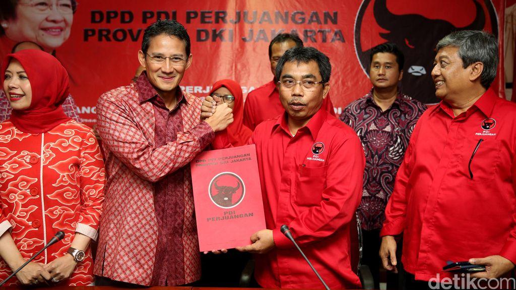 PDIP Masih Pikir-pikir Gandeng Sandiaga Uno di Pilgub DKI