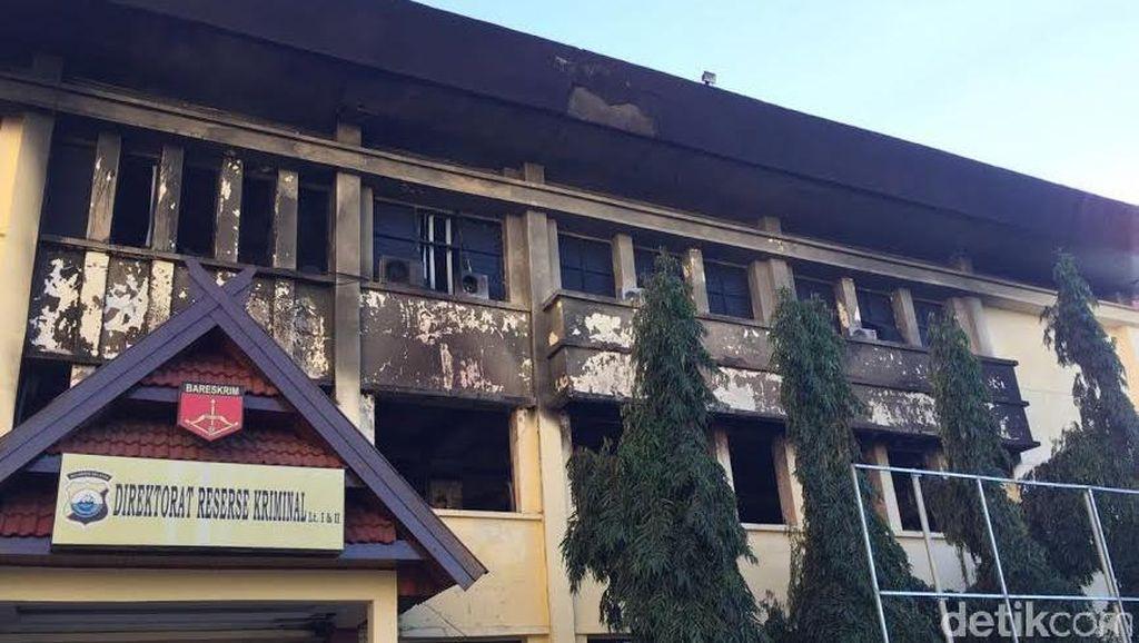 Gedung Reserse Polda Sulsel Terbakar, Labfor Selidiki Asal Api