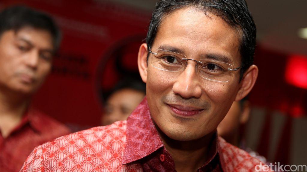 Lolos 3 Besar Cagub DKI dari Gerindra, Sandiaga: Saya Tersanjung