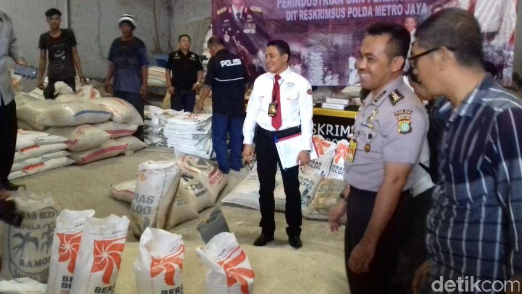 Polda Metro Sita 30 Ton Beras Bulog Oplosan Berpemutih di Tangerang