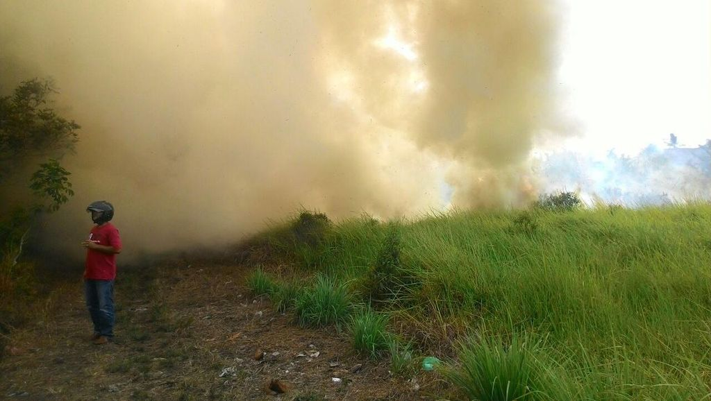 PNS Jadi Tersangka, Begini Wujud Api di Pekarangan yang Menjalar ke Lahan 0,5 Ha