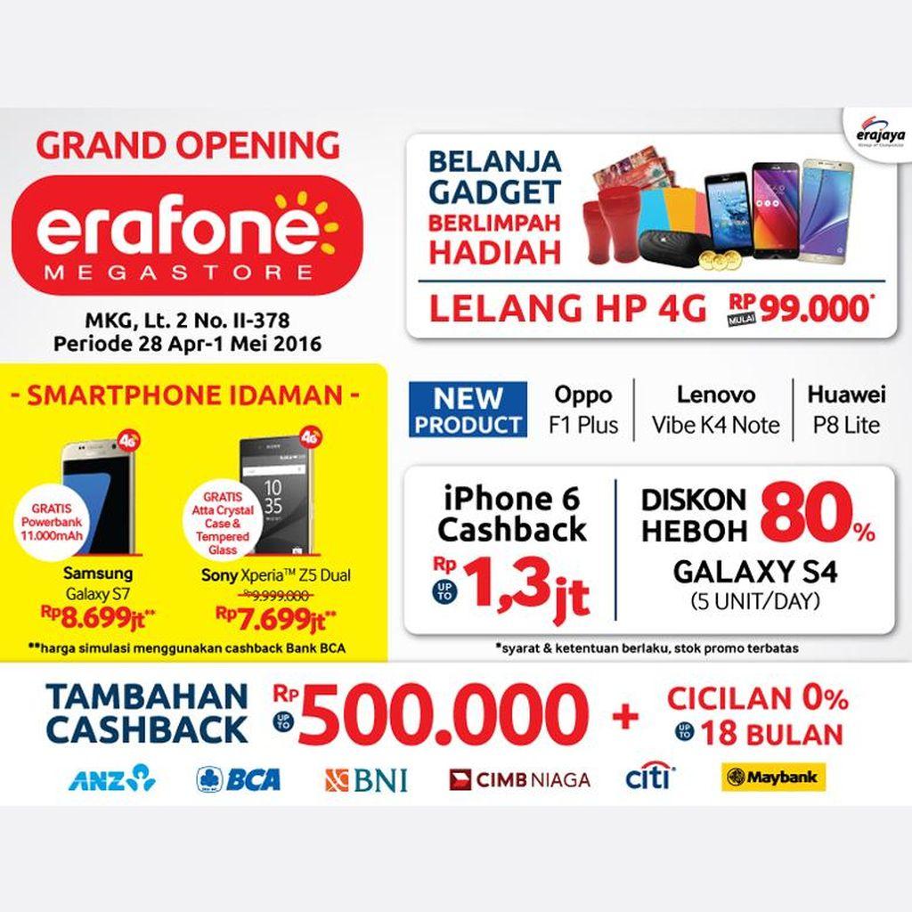 Erafone Megastore MKG-2 Datangkan Ribuan Gadget dengan Segudang Hadiah Langsung