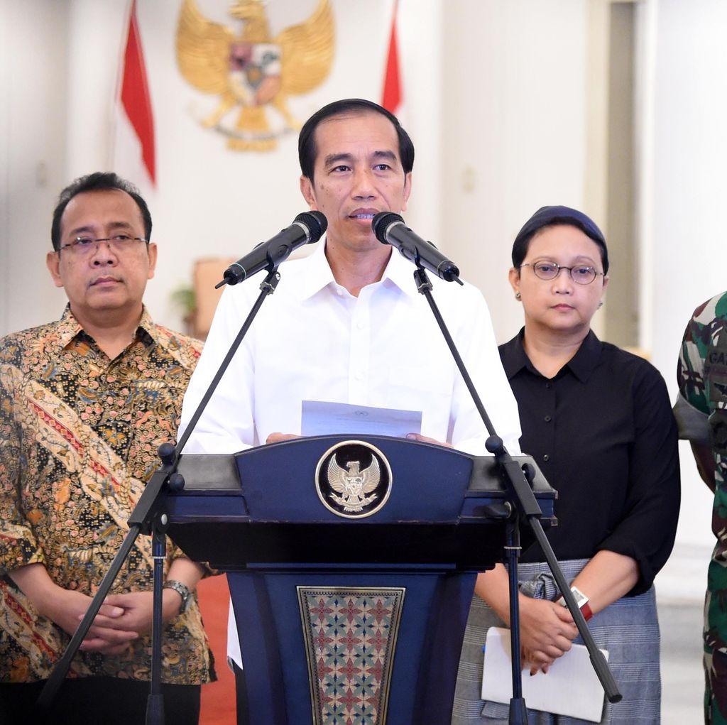 Jokowi Sampaikan Pembebasan 10 WNI yang Disandera