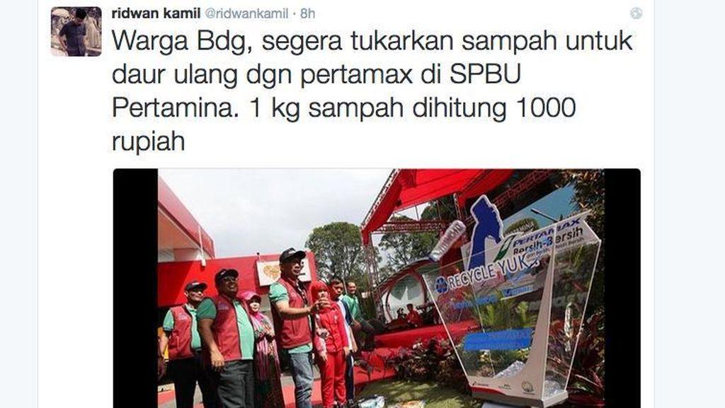 Warga Bandung Bisa Tukar Sampah Kertas dengan Pertamax di SPBU