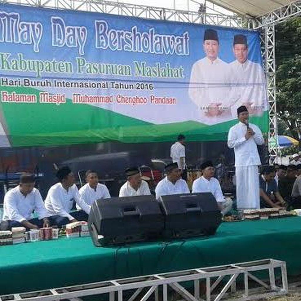 Bupati Irsyad Sholawat Bareng Buruh di Masjid Cheng Hoo