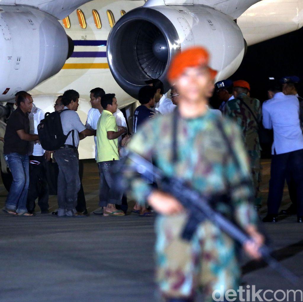 10 WNI Korban Penyanderaan Tiba di Halim Perdanakusuma