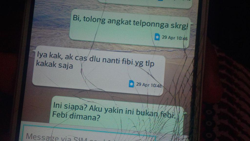 Begini Isi SMS Mencurigakan Orang yang Mengaku Feby kepada Ibu dan Sepupu