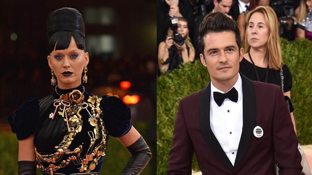 So Cute! Katy Perry dan Orlando Bloom Bawa Tamagotchi ke Met Gala 2016