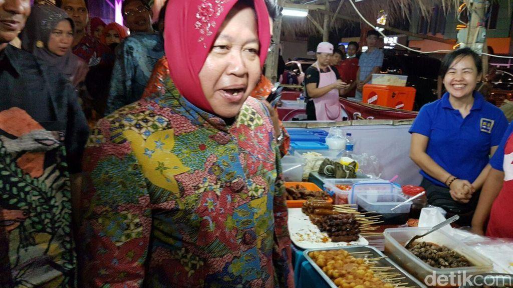 Buka Festival Kuliner Pasar Malam Tjap Toendjoengan, Risma: Saya Suka Semua