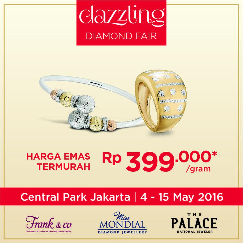 Mahakarya Perhiasan Berlian Dipamerkan di Central Park Jakarta