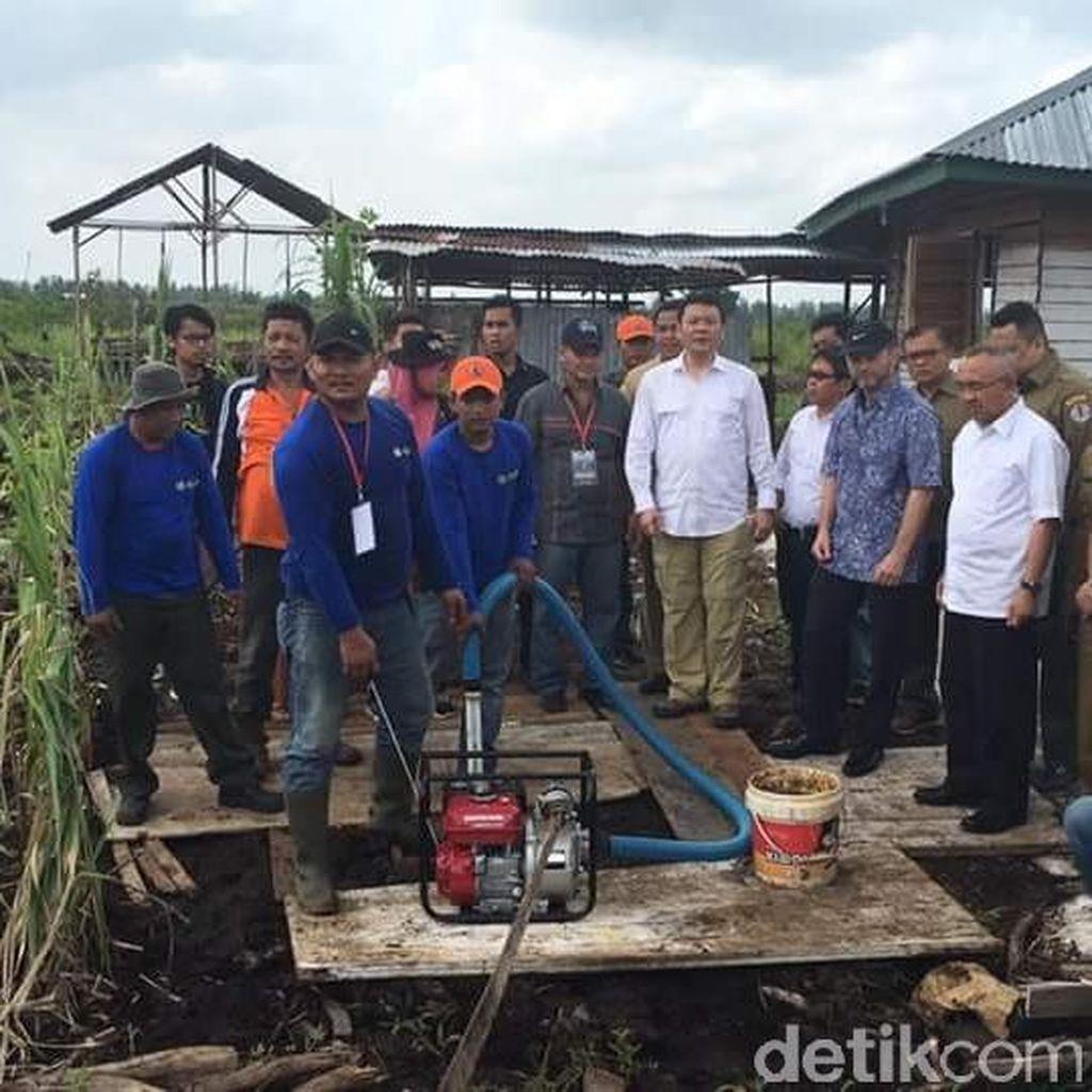 Plt Gubenur Riau dan Dubes Norwegia Tinjau Sistem Pencegahan Kebakaran Hutan
