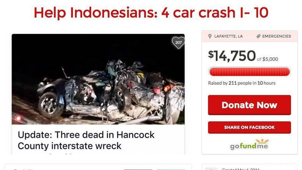 Diaspora Galang Dana untuk WNI Korban Kecelakaan Dahsyat di Mississippi