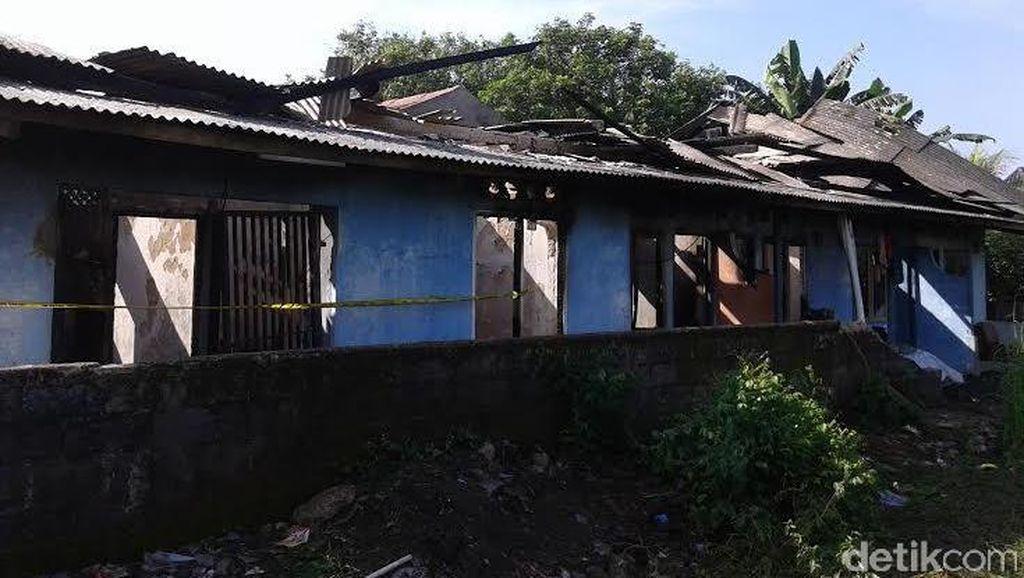 Penampakan Kontrakan 5 Pintu di Sawangan yang Hangus Terbakar