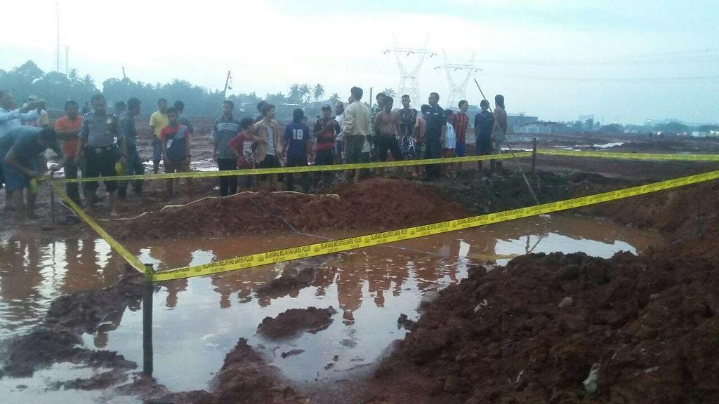 2 Bocah Tewas Tenggelam di Kubangan Galian Pasar di Tangerang Selatan