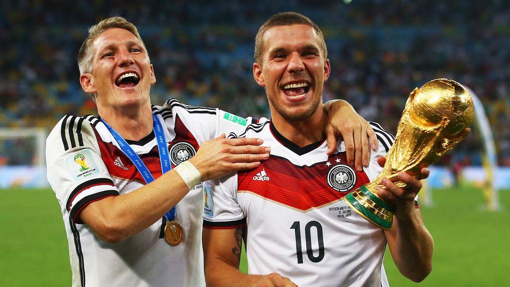 Jerman Siapkan Laga Perpisahan untuk Schweinsteiger dan Podolski