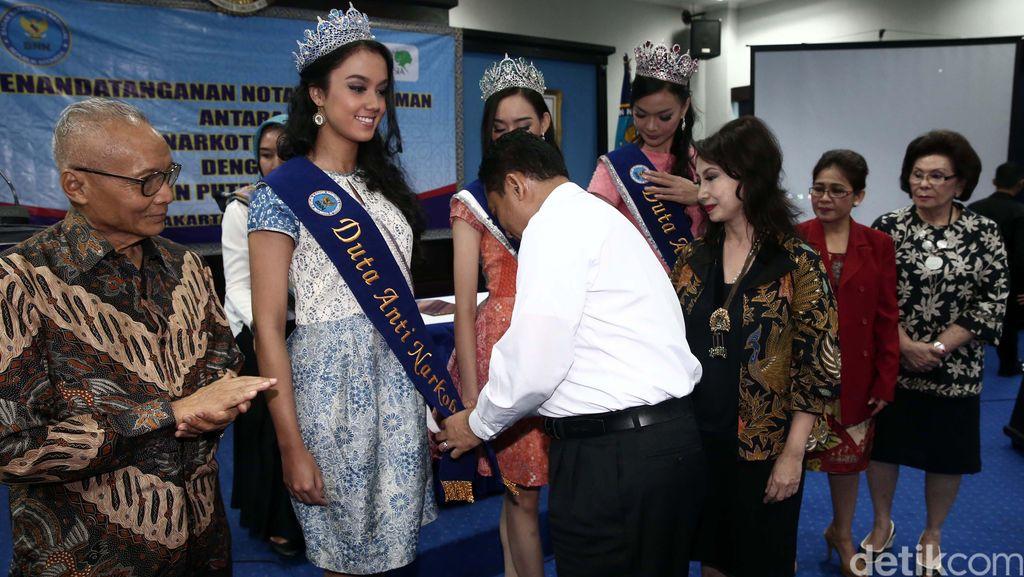 10 Puteri Indonesia 2016 Diangkat BNN Jadi Duta Anti Narkoba