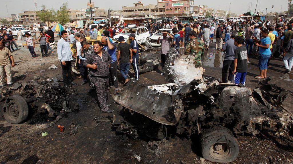 Korban Tewas Akibat 3 Ledakan Bom di Baghdad Bertambah Jadi 77 Orang