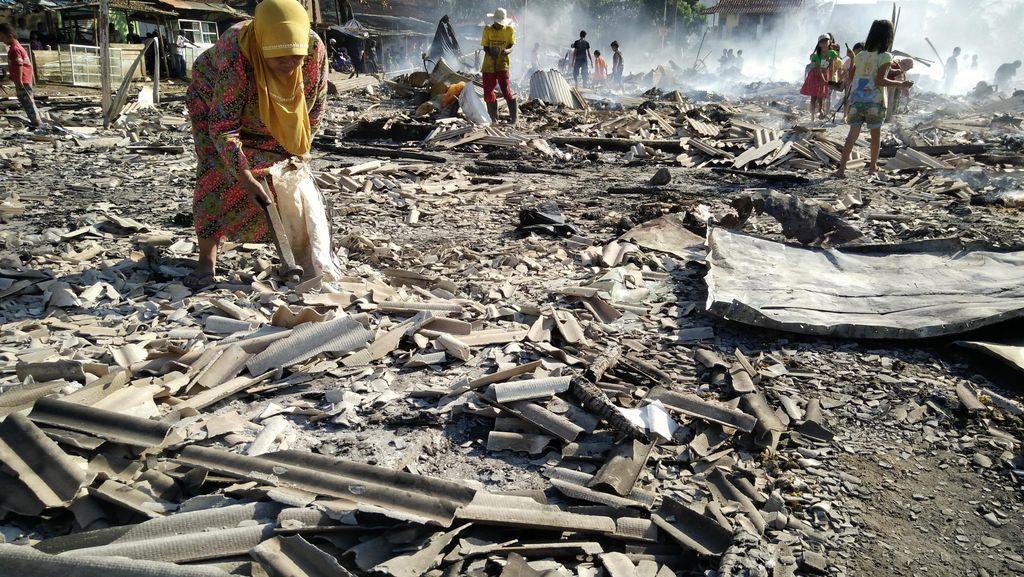 Begini Kondisi Pasar Limbangan Garut yang Ludes Dilalap Api