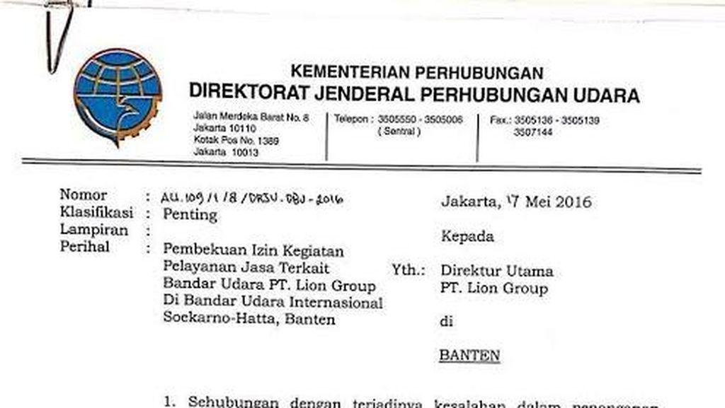 Kemenhub Bekukan Layanan Ground Handling Lion Air di Soekarno-Hatta