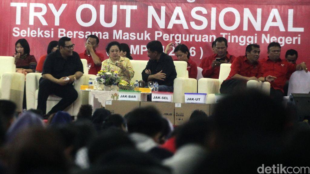PDIP Gelar Try Out SBMPTN, Megawati Berbagi Tips Masuk PTN